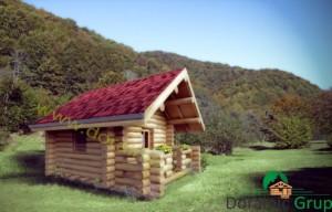 proiect casuta de vacanta din lemn rotund 1 - 1