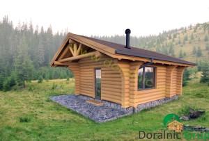 proiect casa din lemn rotund 2 - 2