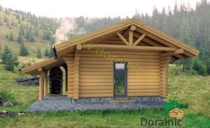 proiect casa din lemn rotund 2 - 3