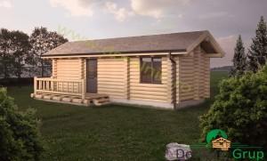 proiect casa din lemn rotund 3 - 2