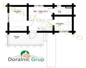 proiect casa din lemn rotund 3 - 4