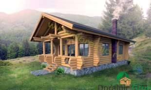 proiect casa din lemn rotund 4 - 1