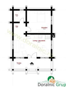 proiect casa din lemn rotund 4 - 4