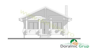 proiect casa din lemn rotund 4 - 5