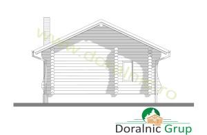 proiect casa din lemn rotund 4 - 8