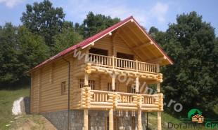 cabana din lemn rotund stelian 1