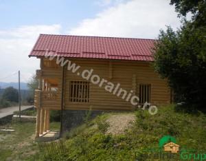 cabana din lemn rotund stelian 2