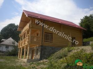 cabana din lemn rotund stelian 3