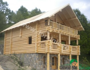 cabana din lemn rotund stelian 7