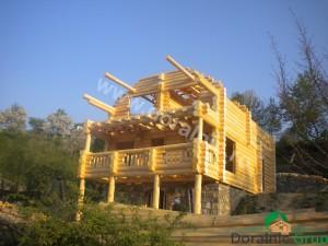 cabana din lemn rotund stelian 8