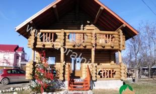 casa din lemn rotund pret ieftin 1