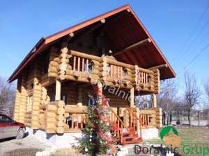 casa din lemn rotund pret ieftin 2