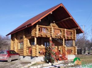 casa din lemn rotund pret ieftin 3