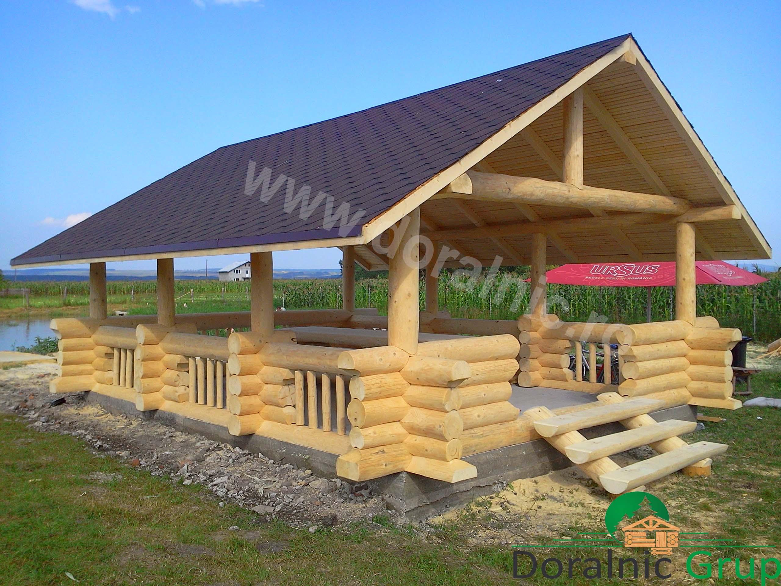 Foisoare din lemn case din busteni cabane din lemn for Case de lemn rotund