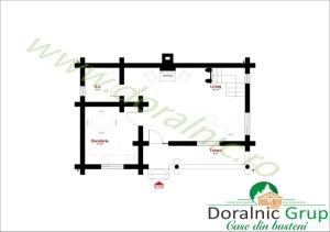 proiect interior casa din lemn